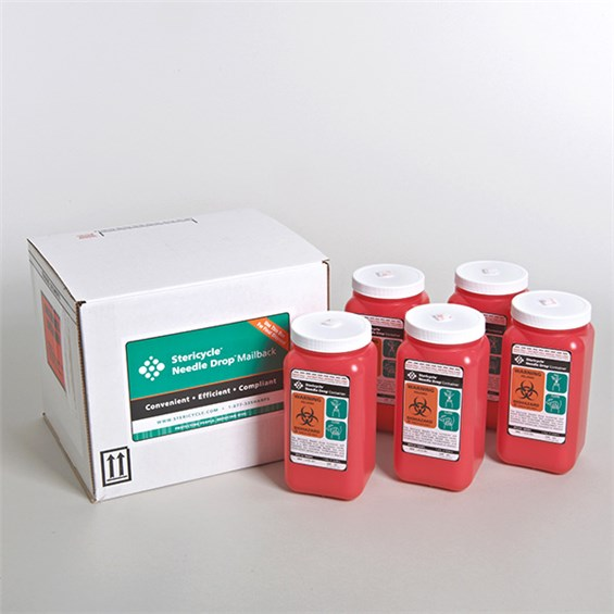 1 4 Quart Sharps Disposal Mailback Systems 5 Pac Stericycle