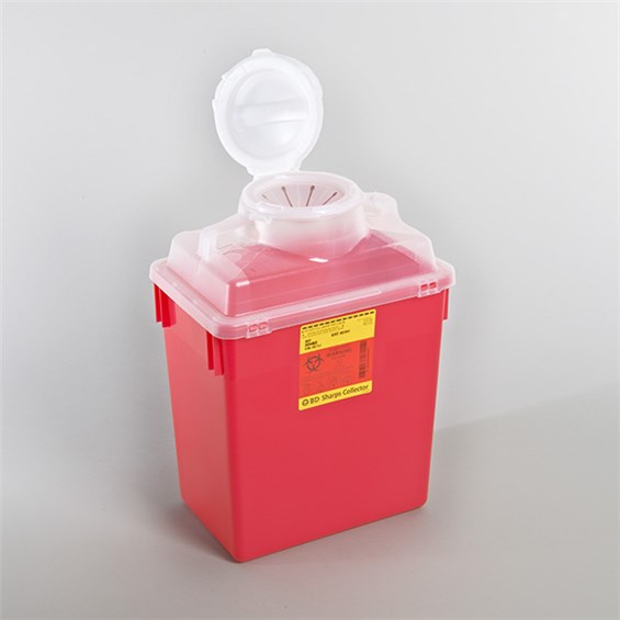 how to use bd home sharps container