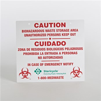 Caution Sign For Biohazardous Waste Stericycle