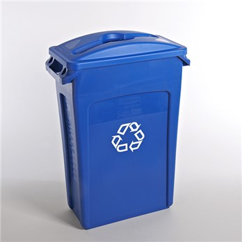 23 Gallon Rubbermaid Blue Recycling Container Lid Stericycle