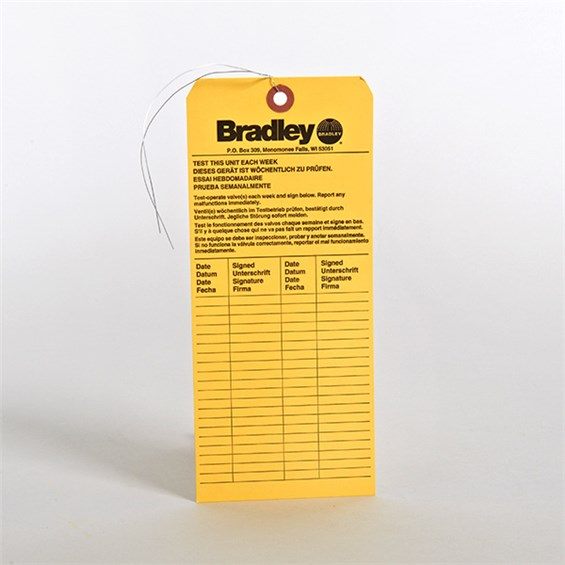 Eye Wash Inspection Tag Stericycle