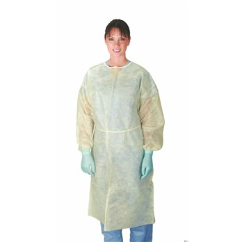 Large Isolation Gown Yellow, w/Ties, Fullback