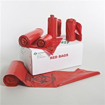 13 Gallon Red Bags For Biohazardous Waste