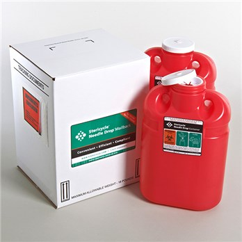 2 Gallon Sharps Disposal Mailback System Twin Pack