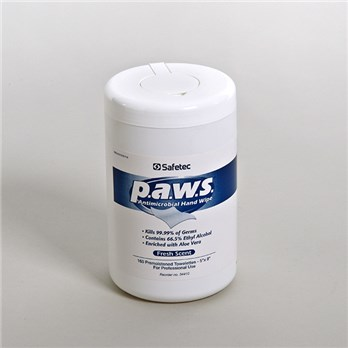 P.A.W.S. Antimicrobial Hand Wipes, Canister