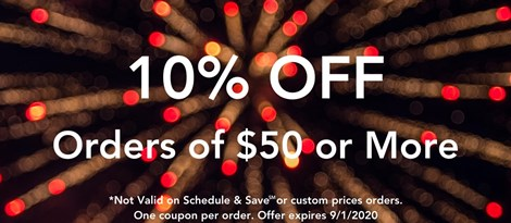 10% OFF Orders of $50 or More