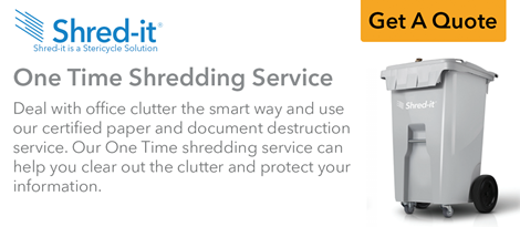 One Time Shredding Service