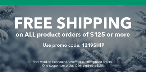 Holiday Savings! Free Shipping When You Spend $125 or More