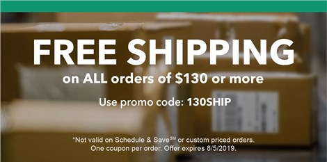 Cut cost with July's FREE SHIPPING promo!