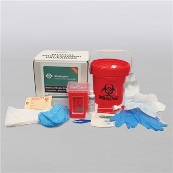 1 Gallon Mailback w/ Spill Kit, Tweezers, Sharps Container