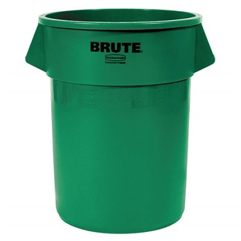 32 gallon rubbermaid green recycling container stericycle - Garden waste containers ...