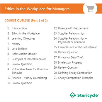 ethics in the workplace for managers | stericycle