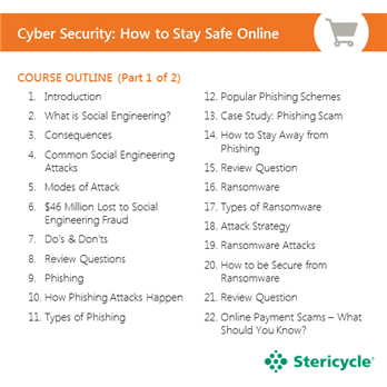 cyber security how to stay safe online stericycle