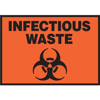 Safety Label Infectious Waste Symbol 35 X 5 Adhesive Vinyl