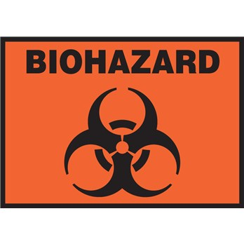Safety Label Biohazard Symbol 3 5 Quot X 5 Quot Adhesive