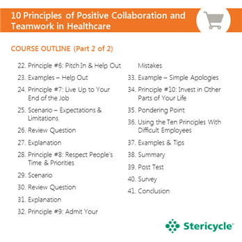 10 principles of positive collaboration and teamwork in healthcare stericycle. Black Bedroom Furniture Sets. Home Design Ideas