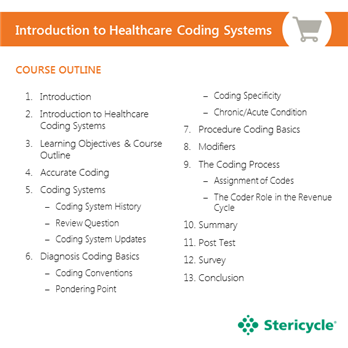 Introduction To Healthcare Coding Systems Stericycle