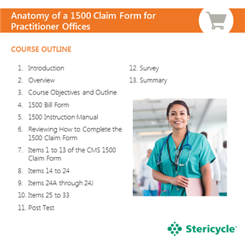 anatomy of a 1500 claim form for practitioner offices stericycle